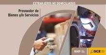 En un día, los proveedores de bienes y servicios no domiciliados en el Perú, pueden inscribirse y renovar su registro ante el RNP
